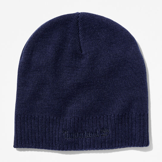 Knitted Logo Beanie for Men in Navy | Timberland