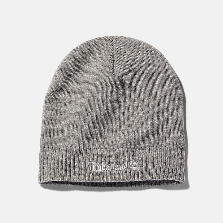 Logo Beanie for Men in Grey-