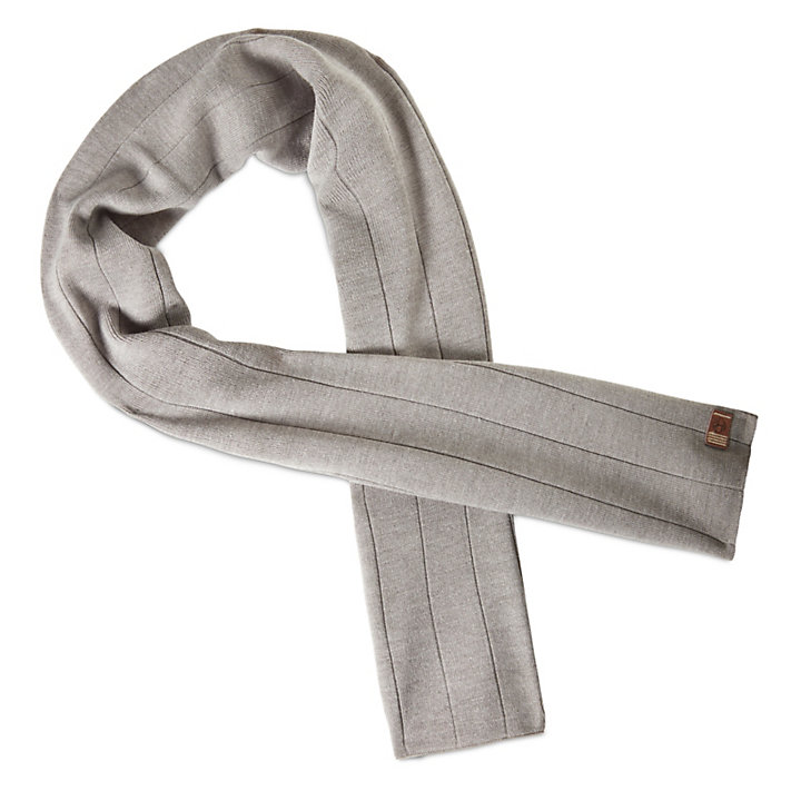 Ribbed Scarf for Men in Grey-