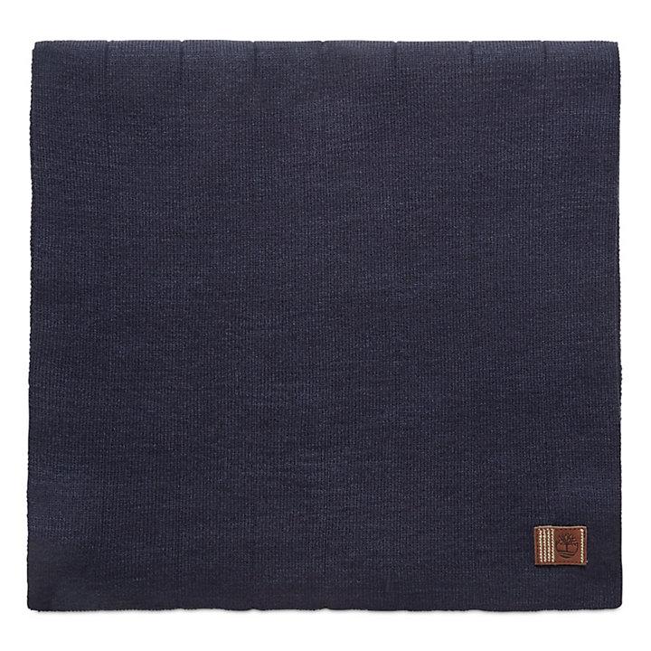 Écharpe côtelée pour homme en bleu marine-