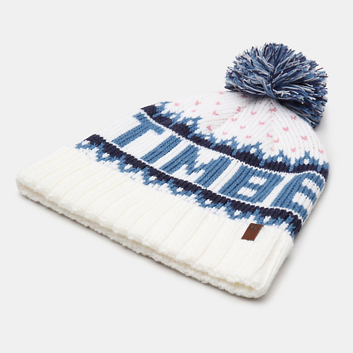 Logo Pom Pom Hat for Men in Teal-