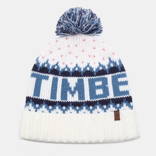 Logo Pom Pom Hat for Men in Teal | Timberland