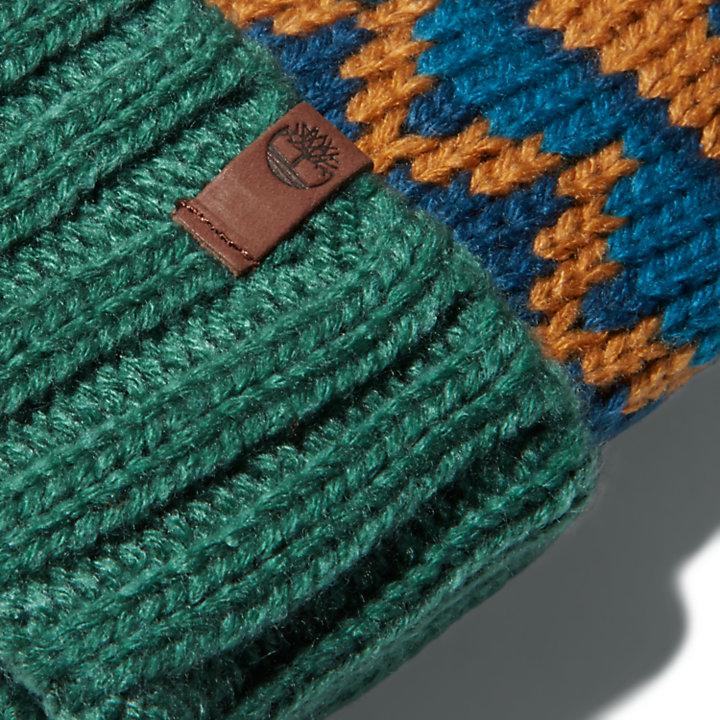 Wintermütze mit Umschlag für Herren in Blau-