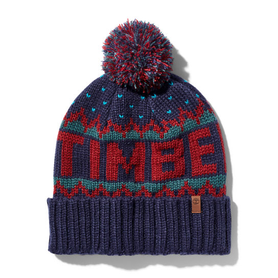 Winter Logo-knit Beanie for Men in Red | Timberland
