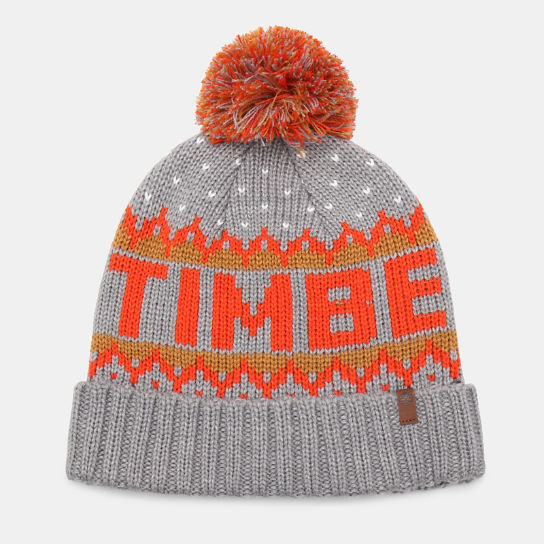 Logo Pom Pom Hat for Men in Grey | Timberland