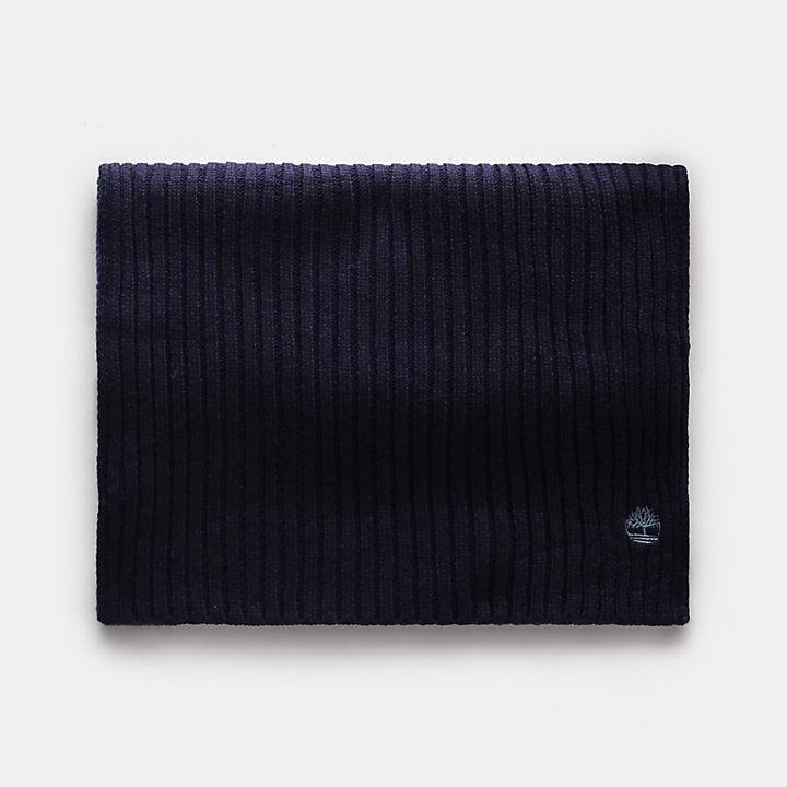 Bufanda en Bloques de Color para Hombre en azul marino-