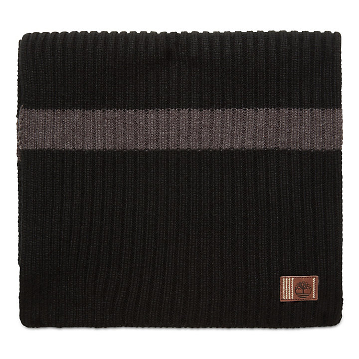 Ribbed Stripe Gift Set for Men in Black-