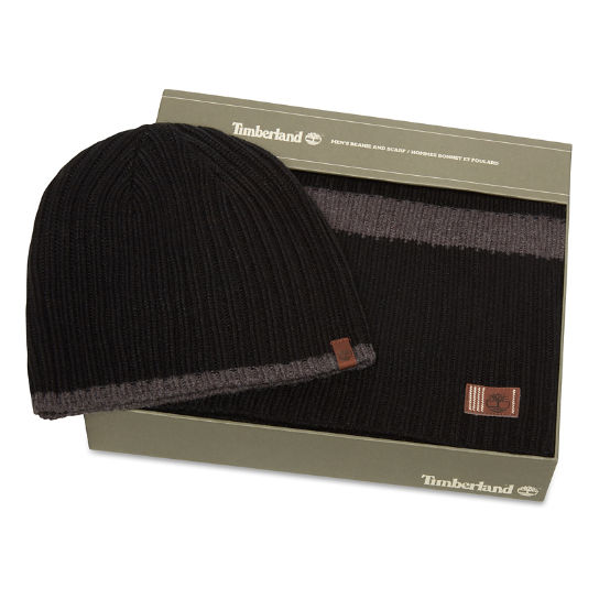Ribbed Stripe Gift Set for Men in Black | Timberland