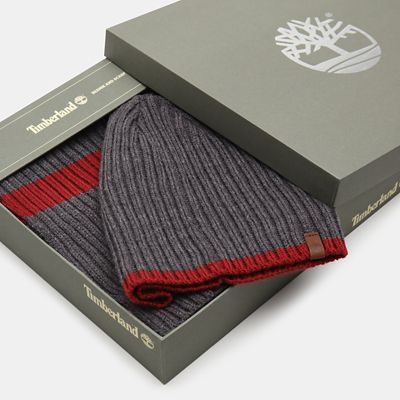 Ribbed+Stripe+Gift+Set+for+Men+in+Grey