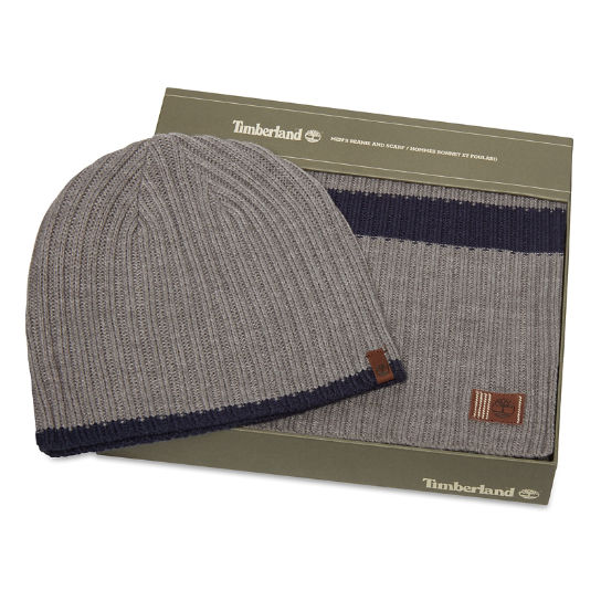 Ribbed Stripe Gift Set for Men in Grey | Timberland