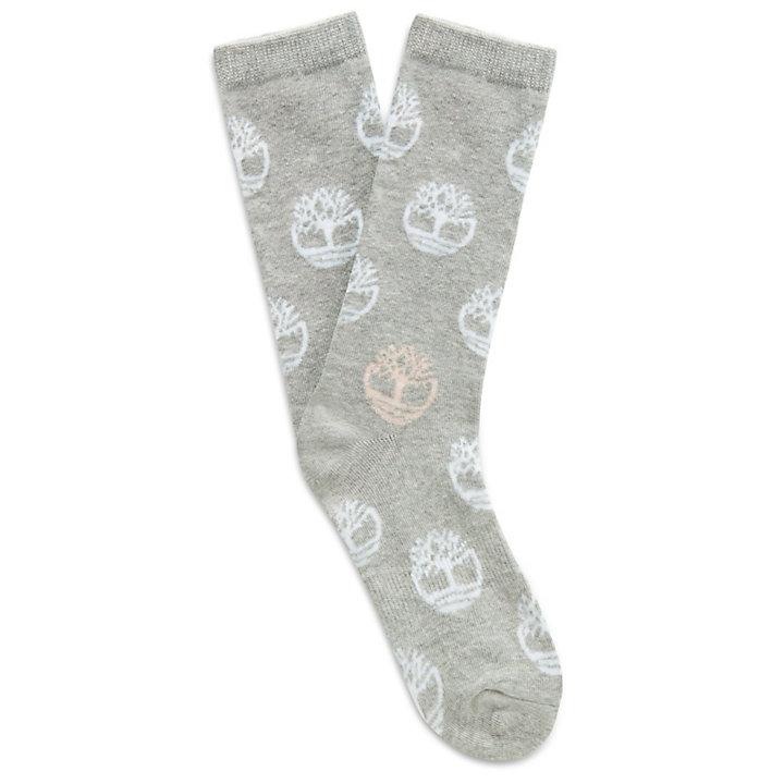 Logo Sokken in Katoenmengsel voor Dames in Grijs-
