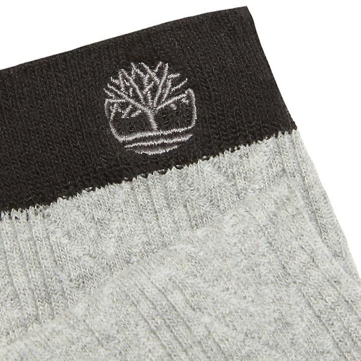 Two-Pair Cotton Blend Socks for Women in Black-