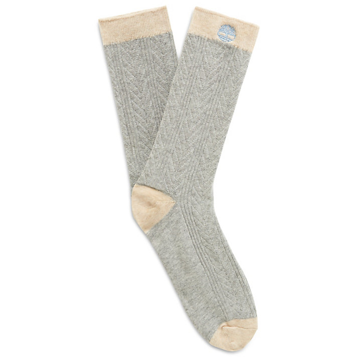 Two-Pair Cotton Blend Socks for Women in Blue-