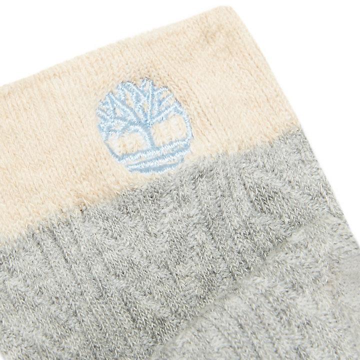 Twee Paar Sokken in Katoenmengsel voor Dames in Blauw-