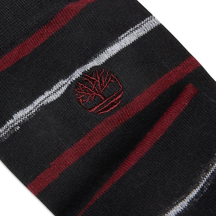 3 Pairs Mixed Crew Socks for Men in Black-