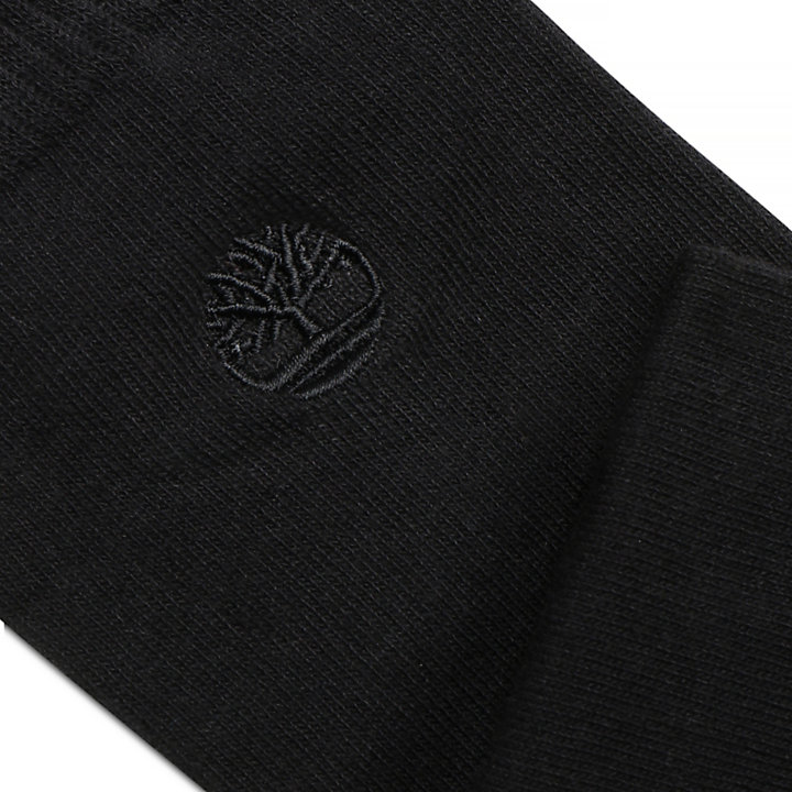 2 paires de chaussettes à bords côtelés pour homme en noir-