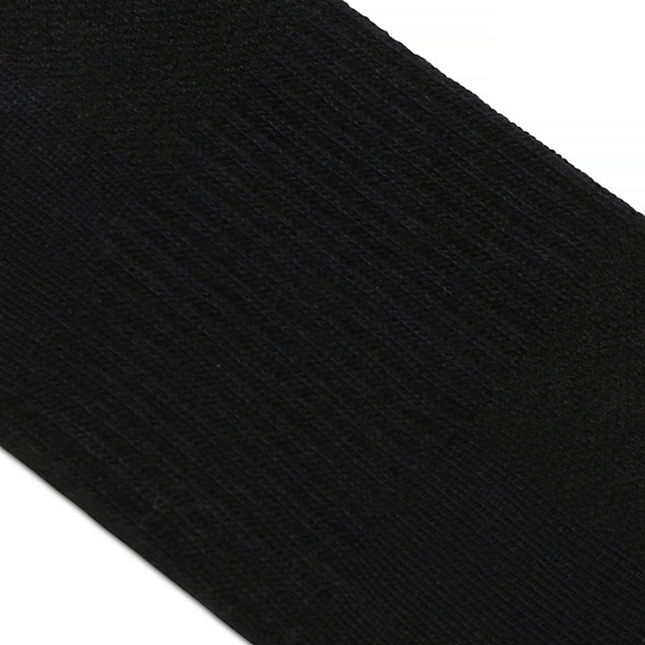 2 Pairs Crew Socks for Men in Black-