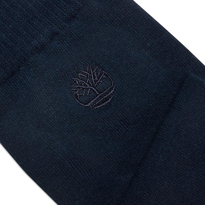 2 paires de chaussettes à bords côtelés pour homme en bleu marine-