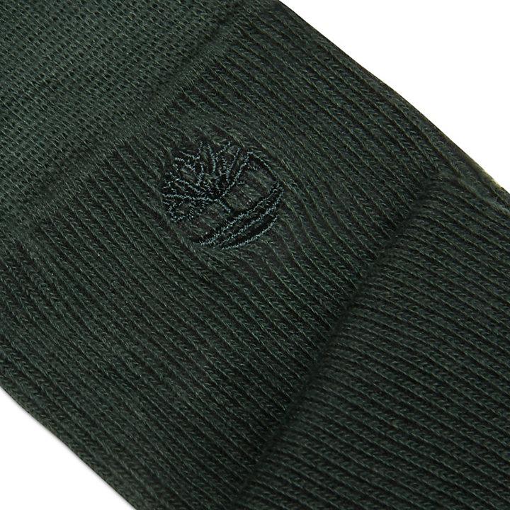 2 Pares de Calcetines Altos para Hombre en Verde Oscuro-