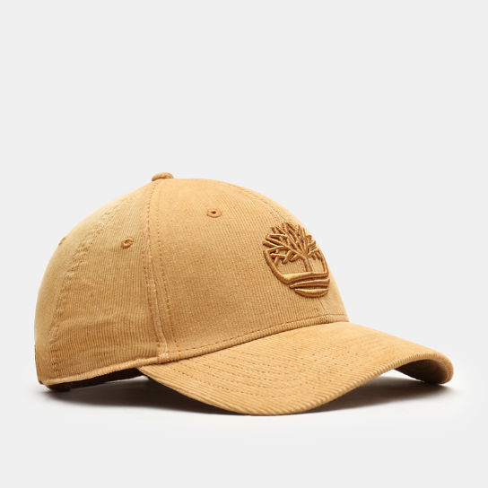 Corduroy Baseball Cap for Men in Yellow | Timberland