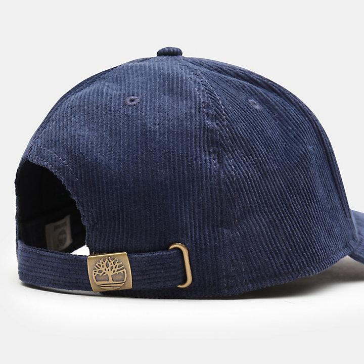 Cotton Corduroy Baseball Cap for Men in Blue-