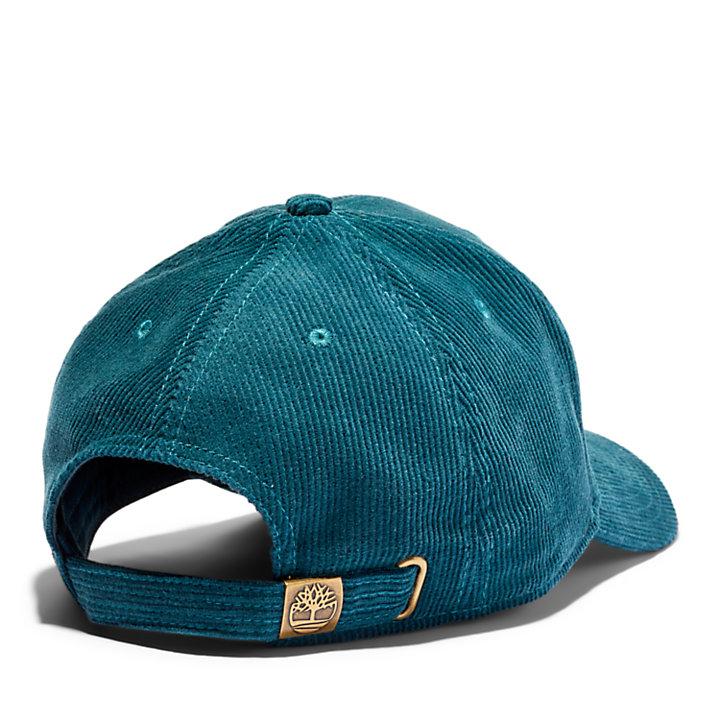 Casquette de baseball en velours côtelé de coton pour homme en bleu-