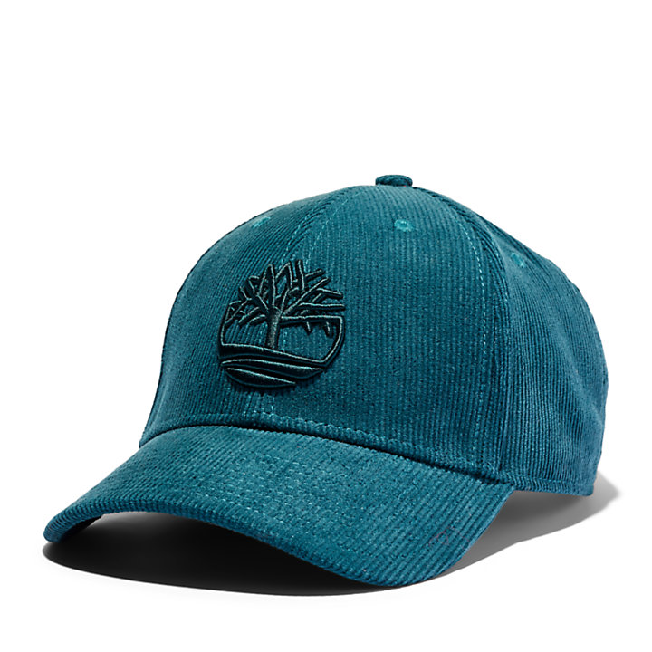 Gorra de Béisbol de Pana de Algodón para Hombre en azul-