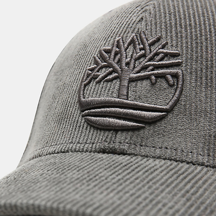 Gorra de Béisbol de Pana para Hombre en gris-