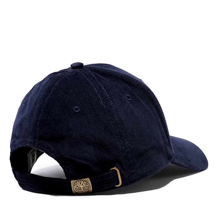 Casquette de base-ball en velours côtelé pour homme en bleu-