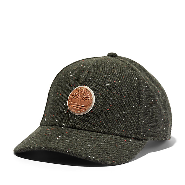 Tree Logo Baseball Hat for Men in Green-