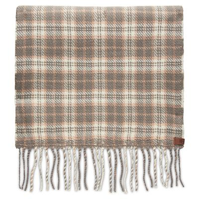 Reversible+Plaid+Scarf+for+Women+in+Grey