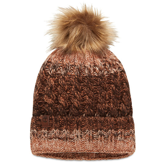 Pom-Pom Beanie for Women with Cuff in Brown | Timberland