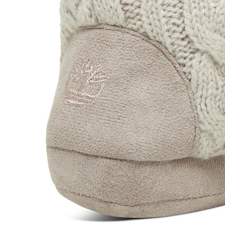 Haussocken mit Zopfmuster für Damen in Grau-