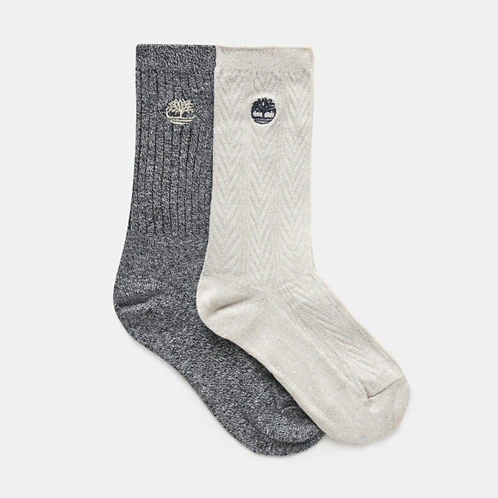 Two-Pair Socks for Women in Greige-