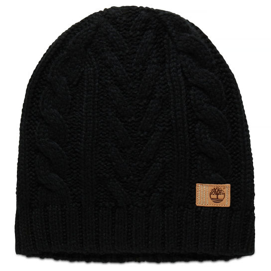 Cable Beanie Hat for Women in Black | Timberland