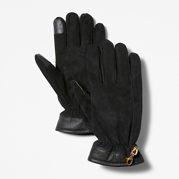 Guantes de cuero Winter Hill en color negro-