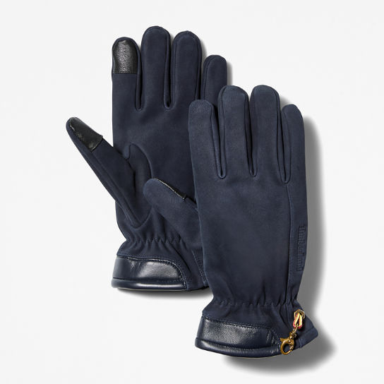 Nubuck Touchscreen Gloves for Men in Blue | Timberland