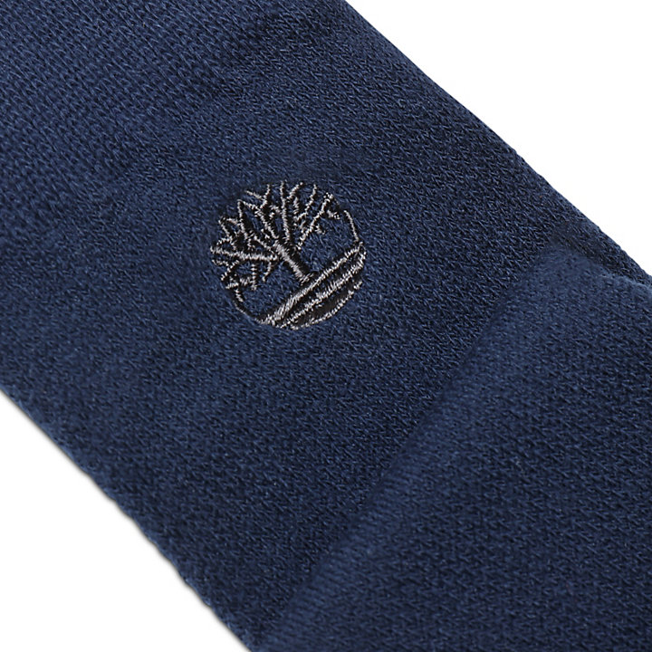Three Pairs Colour Block Socks for Men in Navy-