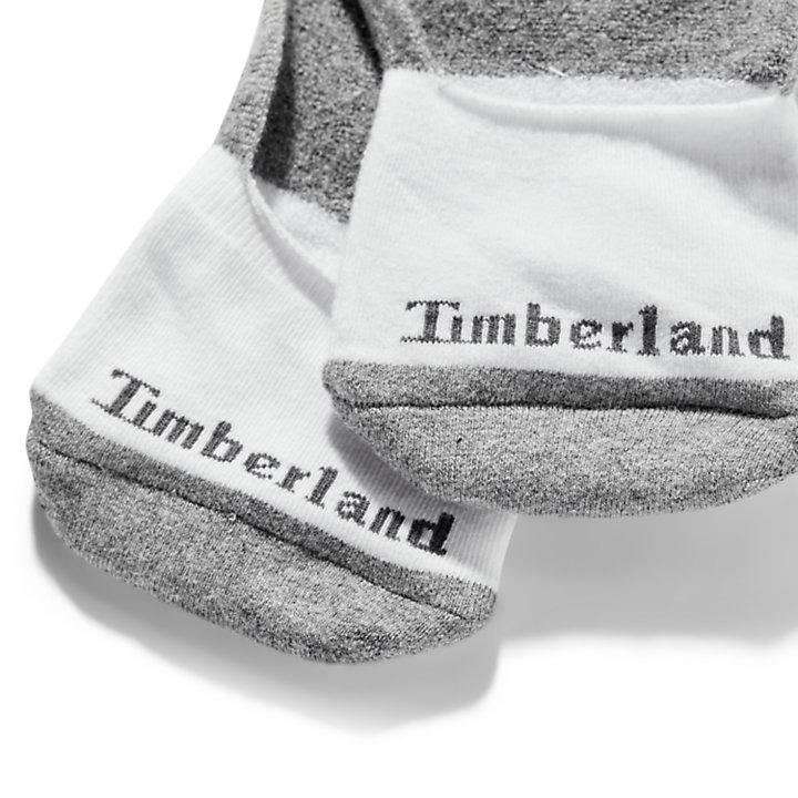 Paquete de Dos Pares de Calcetines Invisibles Ridgevale para Hombre en blanco-