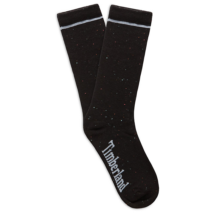 3 Pair Crew Socks for Women in Black-