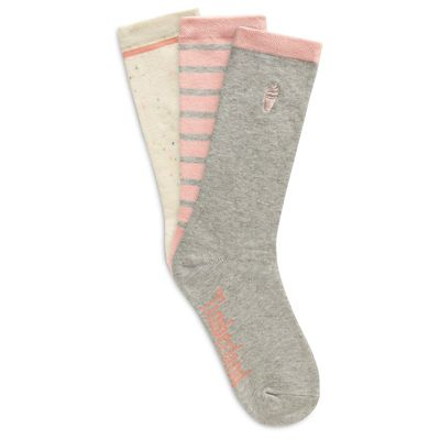 3+Pair+Crew+Socks+for+Women+in+Multicoloured