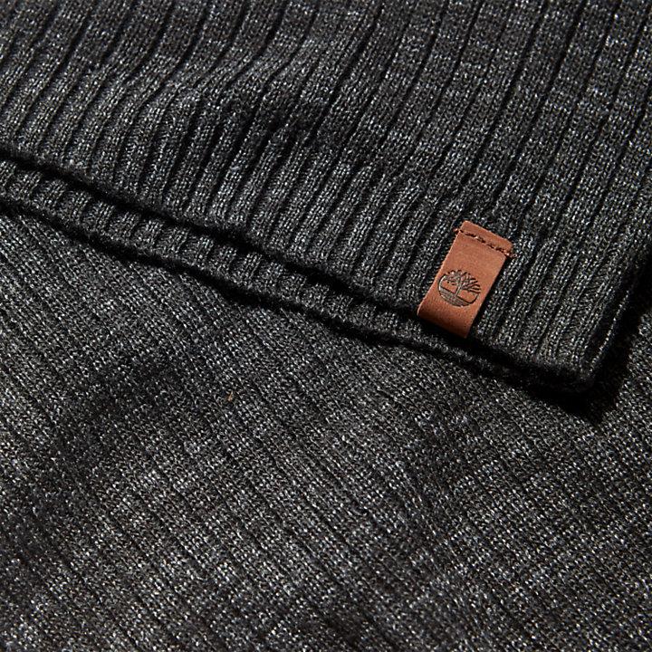 Bonnet léger ample pour homme en noir-