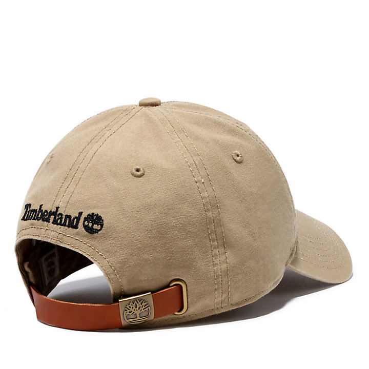 Distressed Baseball Cap for Men in Khaki-