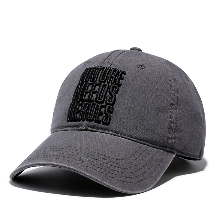 Distressed Baseball Cap for Men in Grey-