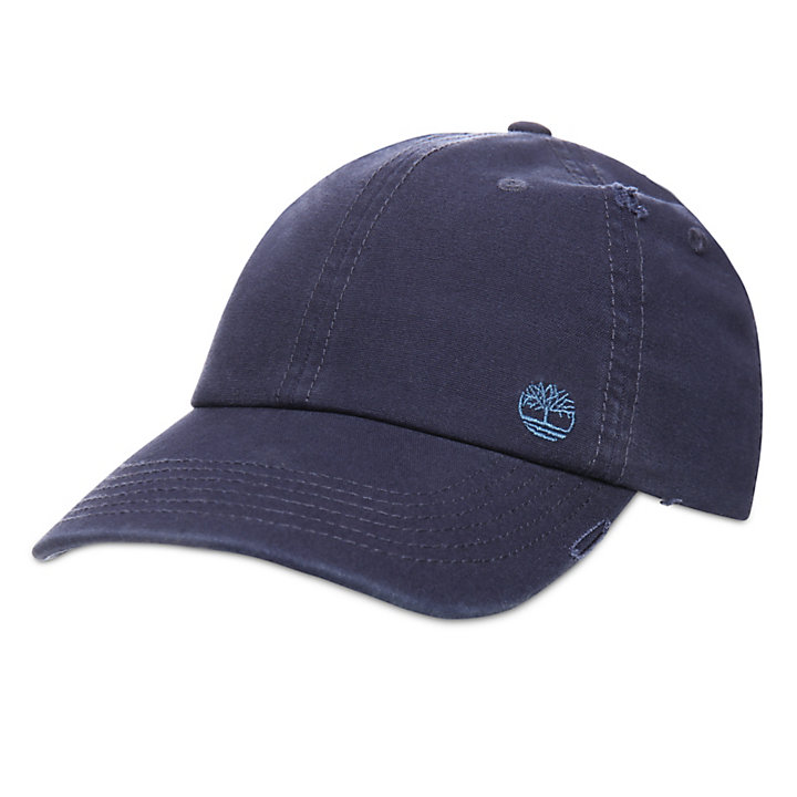 Distressed Baseball Cap for Men in Navy-