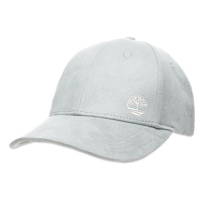 Micro+Suede+Baseball+Cap%C2%A0for+Women+in+Light+Grey