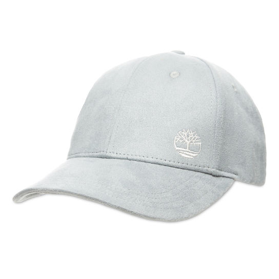 Micro Suede Baseball Cap for Women in Light Grey | Timberland