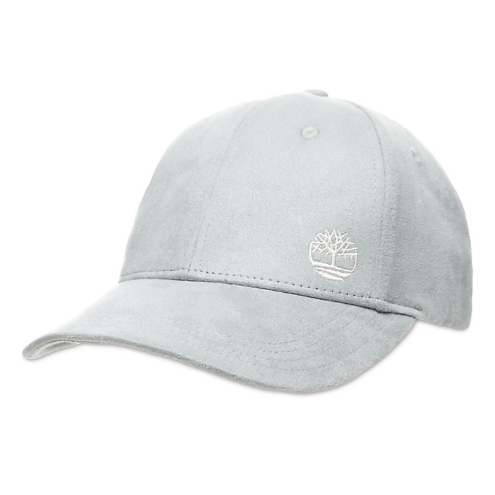 Micro Suede Baseball Cap for Women in Light Grey-