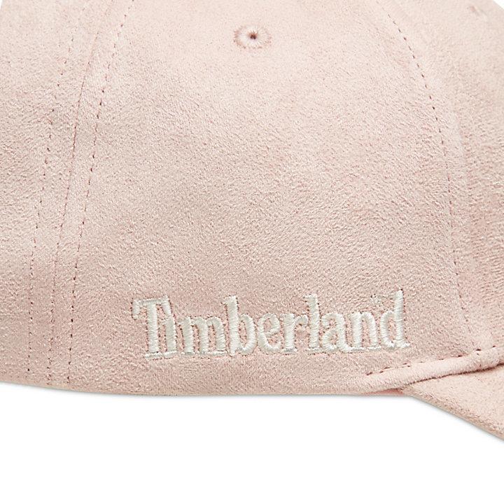 Micro Suede Baseball Capfor Women in Light Pink-