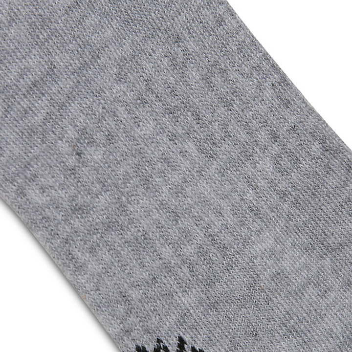Two Pair Logo Crew Socks for Men in Light Grey-